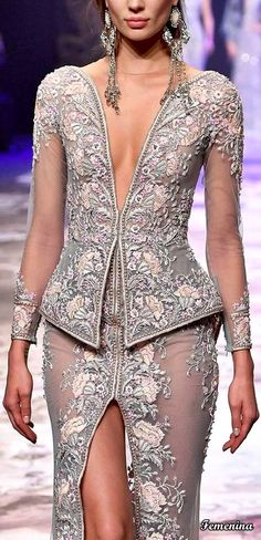 Michael Cinco Couture Michael Cinco Couture, Fashion 2017, Fashion Trends, Party Wear, Peplum Dress, Goals, Bridal, Earrings, Dresses