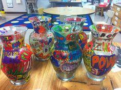 ChumleyScobey Art Room: Pop Art Vases - 3rd Grade Auction Project