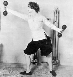 Vintage pictures of women working out.