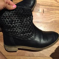 Black Boots Good condition! Urban Outfitters Shoes