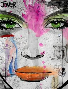 "Saatchi Online Artist Loui Jover; Drawing, ""wake me when its over"" #art"