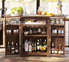 9f164324c2a Chesapeake Bar  pottery barn Am totally going to build something like this  for kitchen storage