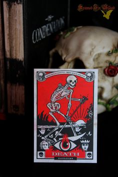 "absinthundrosen:  ""Unholy Spell ov Death by Framed In Blood Art.  ""  ☠️"