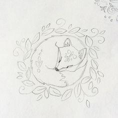 Sleepy fox 😴🌿 #iwilldraweveryday #sketchbook