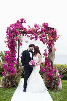 Photography by Luna Photo / lunaphoto.com, Wedding Planning, Design   Stationery by Alchemy Fine Events. Love cascading orchids, not as lavish.