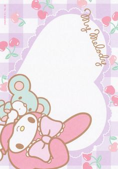 Sanrio My Melody Memo My Melody Wallpaper, Hello Kitty Wallpaper, Pen Pal Letters, Kawaii Chibi, Sad Art, Sanrio Characters, Little Twin Stars, Writing Paper, Note Paper