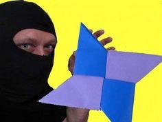 Make an Origami Ninja throwing Star (shuriken) - YouTube