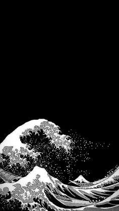 Waves Wallpaper Iphone, Japanese Wallpaper Iphone, Hype Wallpaper, Pop Art Wallpaper, Trippy Wallpaper, Wallpaper Space, Iphone Background Wallpaper, Cool Anime Wallpapers, Anime Scenery Wallpaper