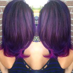 "Alyssa Wiener on Instagram: ""Purpletraitin' on my girl @lexiilouuwhoo 💘💜 #lyssdidmyhair #purpletraitin"""