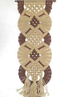 Considering this one. Vintage large macrame wall hanging / wall decor by OldSchoolSwank, $42.00