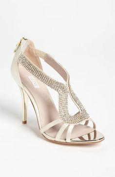 Glint 'Daryn' Sandal available at #Nordstrom $129.95 LOVE THIS! Possible wedding shoe