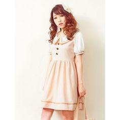 Pink Japanese Lace Collar Dress