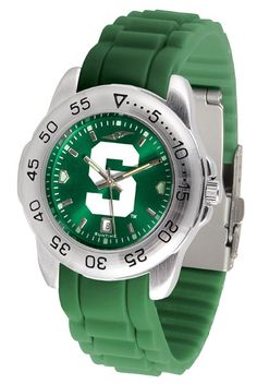 Michigan State Spartans Sport AnoChrome Watch With Color Band