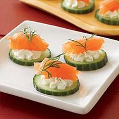 These canapes are both healthy and yummy.