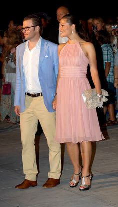 Prince Daniel and his wife crown princess Victoria of Sweden.
