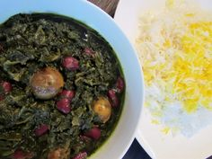 Who knew vegetarian ghormeh sabzi could be so delicious, even more so than the classic meat version! I think it's because without the meat you get to taste and appreciate the other ingredient… Veg Recipes, Vegetarian Recipes, Vegan Meals, Sabzi Recipe, Cleanse Recipes, Palak Paneer, Cooking Time, Family Meals, Food Processor Recipes
