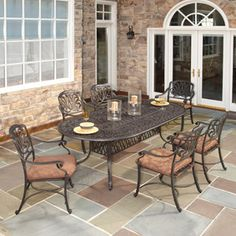 Details About Patio Furniture Dining Set 7 Piece Outdoor Wicker