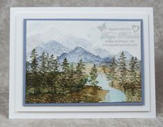 Watercoloring with Waterfront Stamp Set from Stampin' Up! Visit site for details.