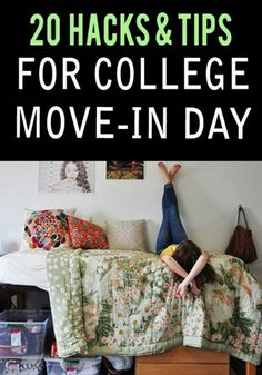 20 Hacks & Tips To Make College Move In Day A Breeze College move in day in is the worst, these hacks will help ease the pain for moving in days in college. From packing to storage we have the right college move in day hacks for you. College Packing Lists, College Essentials, College Hacks, College Dorm Rooms, School Hacks, College Planning, College Checklist, College Necessities, College Roommate