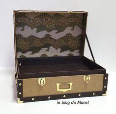 les cartonnages de Manel / mallette orient express Orient Express, Blog, Cartonnage, Wedding Ring Box, Ring Boxes, Sewing Box, Blogging