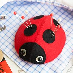 PR sew ladybird pincushion - pincushion and needle case patterns - Craft - allaboutyou.com