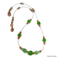 Chrysolite and Copper Necklace | AussenWolfDesigns - Jewelry on ArtFire