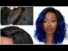 Hair and body beauty care ! Natural Hair Types, Natural Hair Twist Out, Blue Ombre Hair, Black Hair Care, Body Wave Hair, Wig Making, Wig Styles, Scene Hair, Hair Hacks