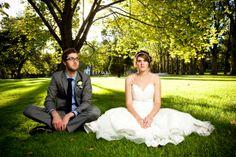 Lauren and Toby's Folksy Garden Wedding