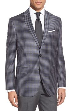 Ted Baker London Trim Fit Check Wool Sport Coat available at #Nordstrom