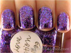 Two coats of Lynnderella Love Potion No. 99 over China Glaze Virtual Violet