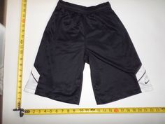 Kids Small Nike Basketball Shorts Size Small S Black White Athletic Performance #Nike #Shorts