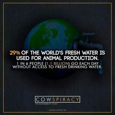 Just mind boggling. Imagine if people changed their eating habits, how much better off our planet would be..