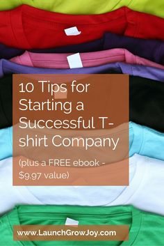 Starting a tshirt company - 10 easy steps to follow for success