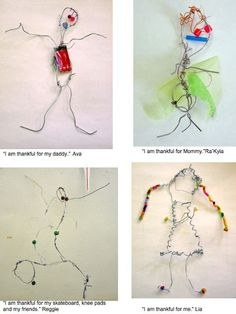 Gorgeous wire people