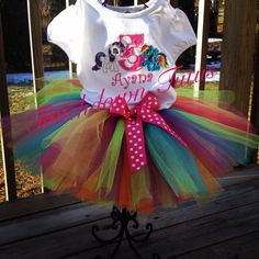 My Little Pony inspired Tutu birthday outfit  by TouchdownTutus