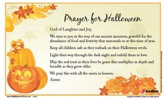 Prayer for Halloween