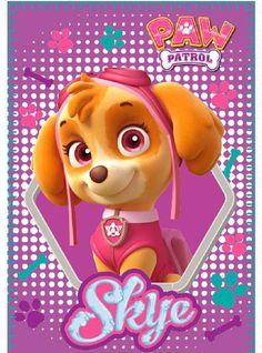 Manta polar Skye, rosa. Patrulla Canina 100 x 150 cm  Bonita manta polar con la imagen de la protagonista Skye de la serie de animación Patrulla Canina, fabricada en 100% poliéster.