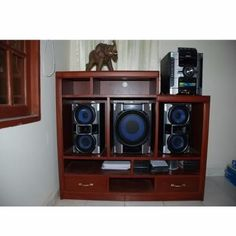 Hifi Music System, Tv Stand Designs, Hi Fi System, Hifi Stereo, Audio Equipment, Tv Unit, Home Theater, Wood Design, Liquor Cabinet