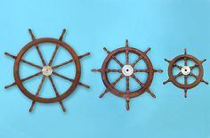 ship wheels for old boat playhouse...