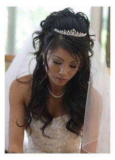 Hairstyles, Long Wedding Hairstyles Tiara: Hairstyles with tiara