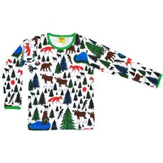 Winter Forest Animal Top - ittikid • Scandinavian Children's Clothes - Scandinavian Baby and Kids Clothes | Organic Eco Friendly Kids Clothes from Smafolk, Maxomorra, Duns Sweden, Sture & Lisa