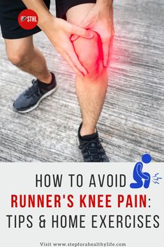By figuring out what caused your runner's knee pain in the first place, addressing those issues and then cultivating a patient, methodical easy home exercises remedies to go back to running and you can put it behind you and never look back.You can apply home exercises and simple remedies that will stop the pain.Check these great tips for prevent itKnee pain relief remedies, stretch for knee pain,exercises for knee pain,back of knee pain,running tips,running for beginners,knee injury
