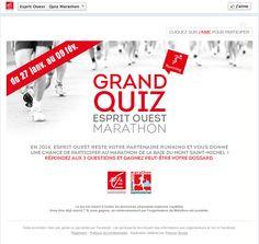 La Caisse d'Epargne Bretagne Pays de Loire met en avant son partenariat avec le Marathon de la Baie du Mont Saint-Michel en permettant aux fans de la page de gagner des dossards.  Serez vous sur la ligne de départ ?