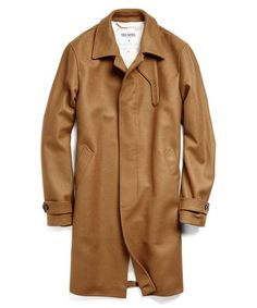 784f1afd8fc Wool Topcoat in Camel Topcoat, Todd Snyder, Wool, Raincoat, Products,  Menswear