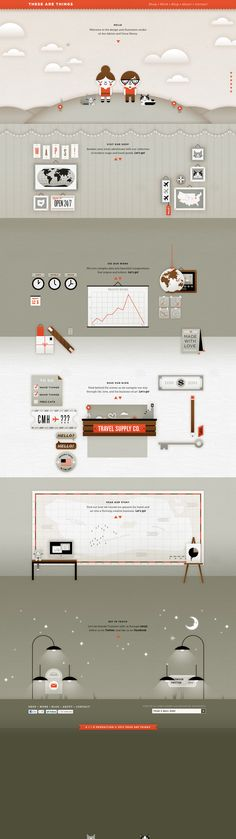 These Are Things - Home of the Modern World Map  http://www.thesearethings.com/  #scrolling #illust #html5