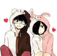 Kaneki y touka | I also like Kanekis monobear jacket