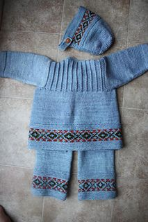Hand Knitted Baby Set Cardigan And Pants Shades Of Red 2 3