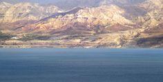 Dead Sea looking at Jordan mountains