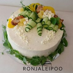 #kanakakku #voileipäkakunkoristelu #voileipäkakku #ronjaleipoo Salad Cake, Sandwich Cake, Sandwiches, Deli, Cake Decorating, Birthday Cake, Bakery, Brunch, Instagram