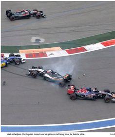 Max loopt schade op door crashende Hulkenberg en Ericson